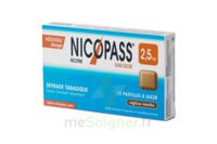Nicopass 2,5 Mg Pastille Menthe Fraîcheur Sans Sucre Plq/12 à BIAS