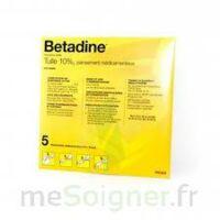 Betadine Tulle 10 % Pans Méd 10x10cm 5sach/1 à BIAS