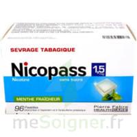 Nicopass 1,5 Mg Pastille Sans Sucre Menthe Fraîcheur Plq/96 à BIAS