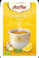 Yogi Tea Tisane Ayurvédique Gingembre Citron Bio 17 Sachets/1,8g à BIAS