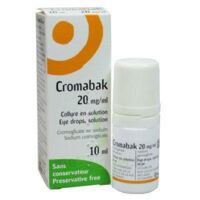 Cromabak 20 Mg/ml, Collyre En Solution à BIAS
