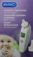 Alvita Thermomètre Auriculaire Infrarouge +20 Embouts à BIAS