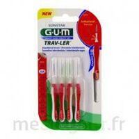 Gum Trav - Ler, 0,8 Mm, Manche Rouge , Blister 4 à BIAS