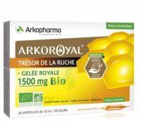 Arkoroyal Gelée Royale Bio 1500 Mg Solution Buvable 20 Ampoules/10ml à BIAS